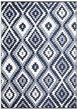 SMM013 Reversible Indoor/Outdoor Rugs-(Blue,8x10)