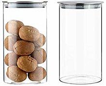 Smofax Glass Storage Jars Airtight Kitchen Food