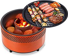 Smokeless Charcoal Grill Portable BBQ with Fan for