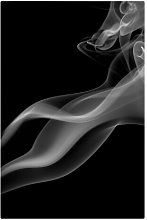 Smoking Silver Photographic Print on Canvas East