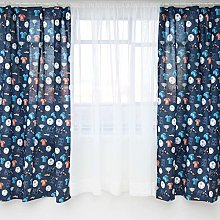 Smoobery Mill Reversible Kids Curtains   66 x 54