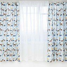 SmooberyMill® Reversible Kids Curtains   66 x 54