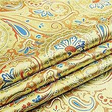 Smooth Satin Imitate Silk Brocade Fabric Vintage