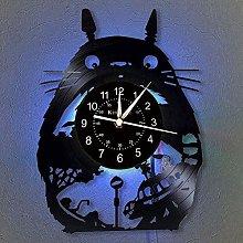 Smotly Totoro Vinyl Wall Clock, LED 7 Color Night