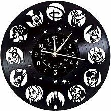 Smotly Vinyl Record Wall Clock, Disney Animal Park