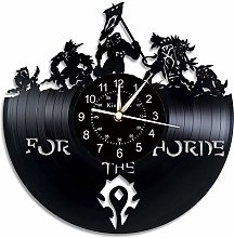 Smotly Vinyl wall clock, large clock with World of