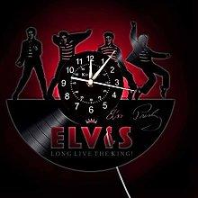 Smotly Vinyl wall clock, music group Elvis Presley