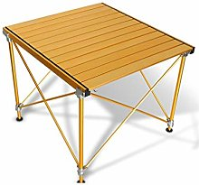 SMSOM Aluminum Folding Camping Table, Portable