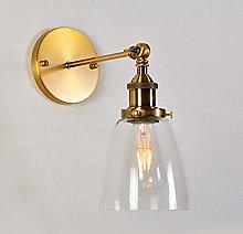 SMTAO Wall Lamp,Modern Brass Wall Light Industrial