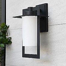 SMTAO Wall Lamp,Modern E27 Outdoor Wall Lamp Black
