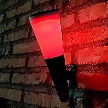 SMTAO Wall Lamp,Outdoor Solar Step Lights Abs Mood