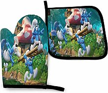Smurfs Oven Mitts and Pot Holders Sets Hanging
