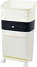 SMX Home Laundry Basket on Wheels Laundry Bin,