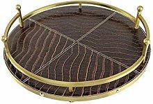 SMX Storage Tray Gold Round Tray Modern Metal