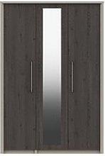 Smyth Part Assembled 3 Door Mirrored Wardrobe