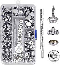 Snap fastener screws, Canvas snap fastener kit,