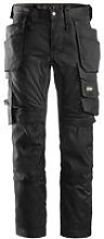 Snickers Stretch Holster Trouser Black Tall Leg