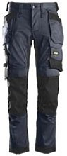 Snickers Stretch Holster Trouser Navy /Black Tall