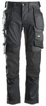 Snickers Stretch Holster Trouser Steel Grey/Black