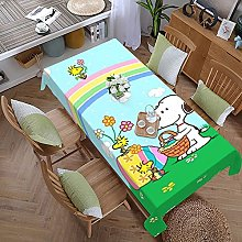 Snoopy 59 Inches X 107.9 Inches Color Style Table