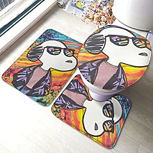 Snoopy Bathroom Rugs Set Non-Slip Water Absorption
