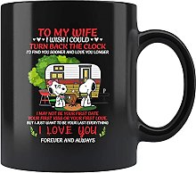 Snoopy Camping to My Wife I Wish I Could Turn Back