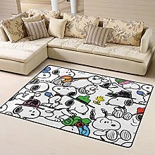 Snoopy Cartoon Anime Area Rug Floor Rugs Living