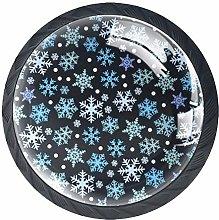 Snow Black 4 Pieces Crystal Glass Wardrobe Handles