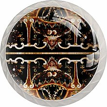 Snow Eagle 4 Pack Glass Drawer Knobs- Round Shape