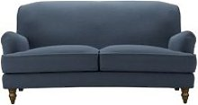 Snowdrop 2.5 Seat Sofa in Midnight Blue Brushed