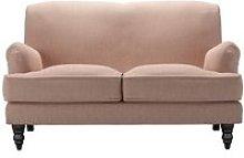Snowdrop 2 Seat Sofa in Blush Pure Belgian Linen