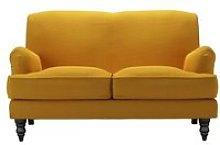 Snowdrop 2 Seat Sofa in Mango Brushed Linen Cotton