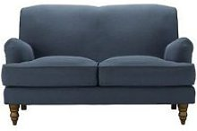 Snowdrop 2 Seat Sofa in Midnight Blue Brushed