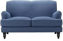 Snowdrop 2 Seat Sofa in Oxford Blue Brushed Linen
