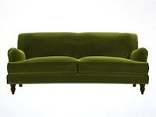 Snowdrop 3 Seat Sofa (breaks down) in Olive Cotton