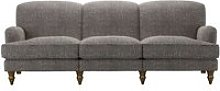 Snowdrop 4 Seat Sofa in Tribal Silver Antiqued