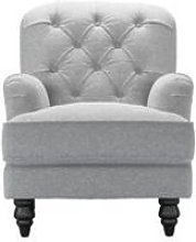 Snowdrop Button Back Small Armchair in White