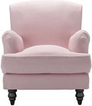 Snowdrop Small Armchair in Powder Pink Brushed