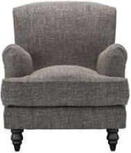 Snowdrop Small Armchair in Tribal Silver Antiqued