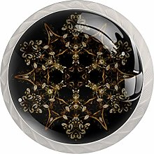 Snowflake 4PCS Drawer Knobs,Cabinet Knobs,Drawer