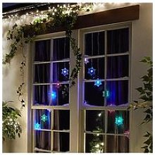 Snowflake Colour Changing Curtain Light Christmas