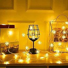 Snowflake Fairy Lights, 5ft Christmas String