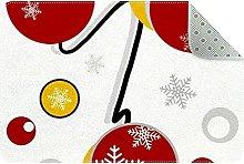 Snowflake Patches Door Mat, Machine Washable Soft