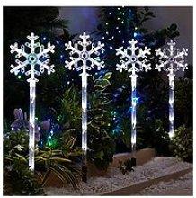 Snowflake Pathfinder Outdoor Christmas Lights (4