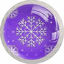 Snowflake Purple 4 Pieces Crystal Glass Wardrobe