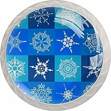 Snowflake Round Cabinet Knobs 4pcs Knobs for