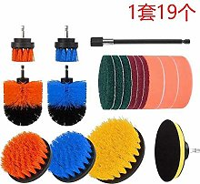 SNOWINSPRING 19Pcs Drill Brush Attachment Set