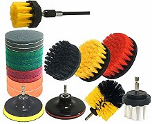 SNOWINSPRING 20Pcs Drill Brush Attachments Set