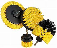 SNOWINSPRING 4 Pieces of Drill Brush Accessory Kit