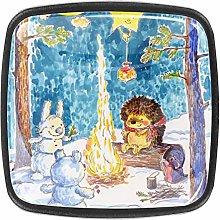 Snowman and Animals 4 Packs Kitchen Cabinet